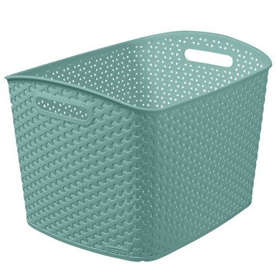 Y-Weave 11 x13  Large Curved Rectangle Jade Green - Room Essentials™