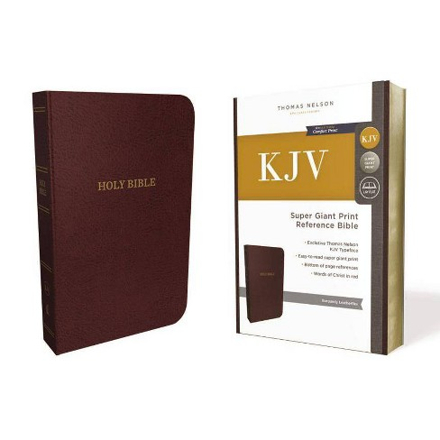 KJV, Reference Bible, Super Giant Print, Leather-Look, Burgundy, Red Letter  Edition - by Thomas Nelson