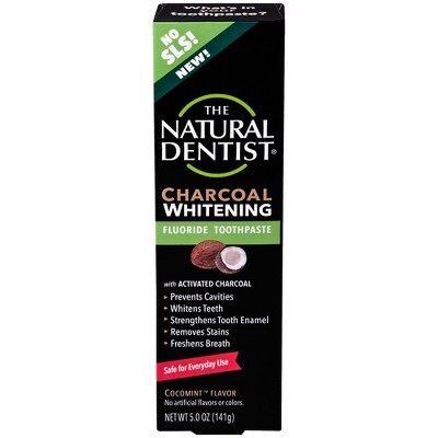 Nat Dentist Paste Charcoal with Fluoride - 5oz