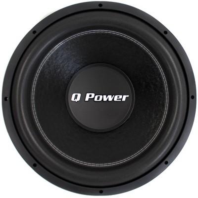 "QPower QPF15 15"" 2200W Deluxe Series Dual Voice Coil Car Audio Power Subwoofer"
