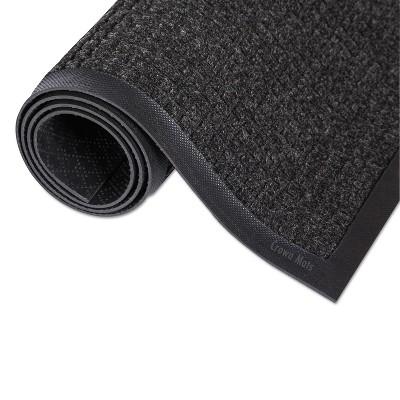 2'x3' Rectangle Solid Floor Mat Black,Gray - Crown