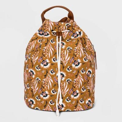 Floral Print Bucket Drawstring Closure Backpack - Universal Thread™