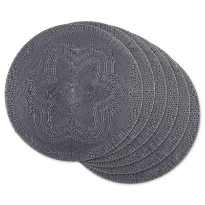6pk Plastic Woven Floral Placemats - Design Imports