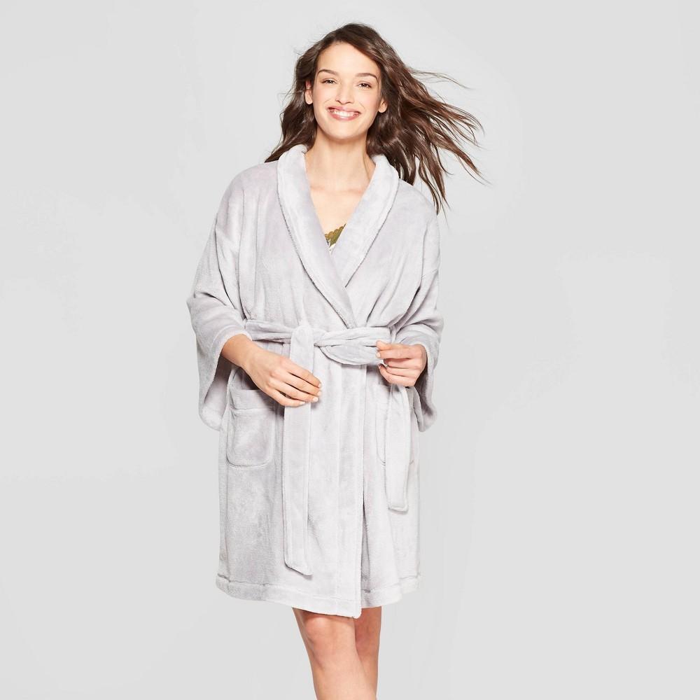 Women S Cozy Robe Stars Above 8482 Gray Xl Xxl