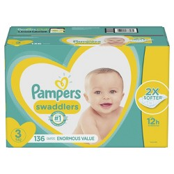 Pampers Swaddlers Disposable Diapers Enormous Pack - (Select Size)