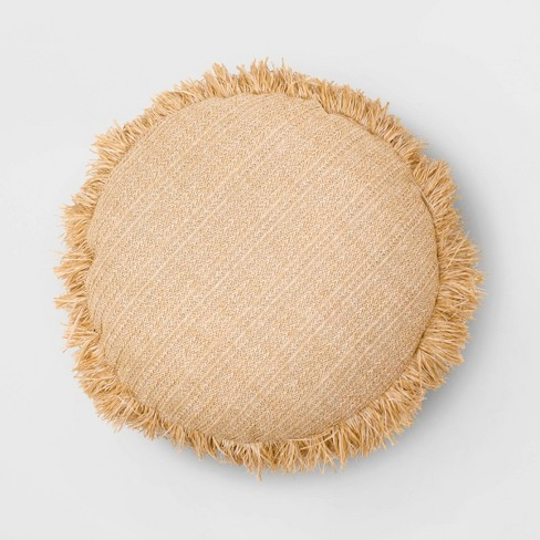 Round Throw Pillow Natural - Opalhouse™ - image 1 of 3