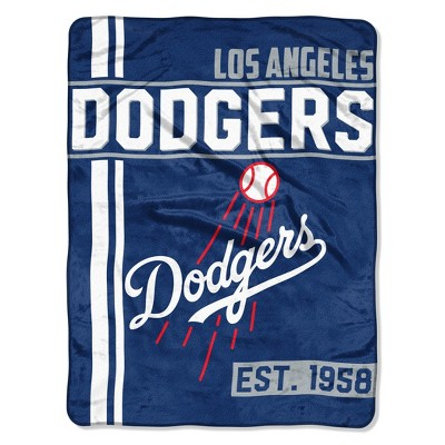 MLB Los Angeles Dodgers Micro Fleece Throw Blanket