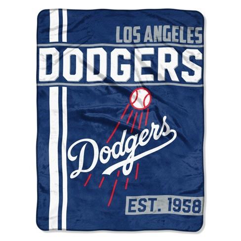 MLB Los Angeles Dodgers Micro Fleece Throw Blanket - image 1 of 1