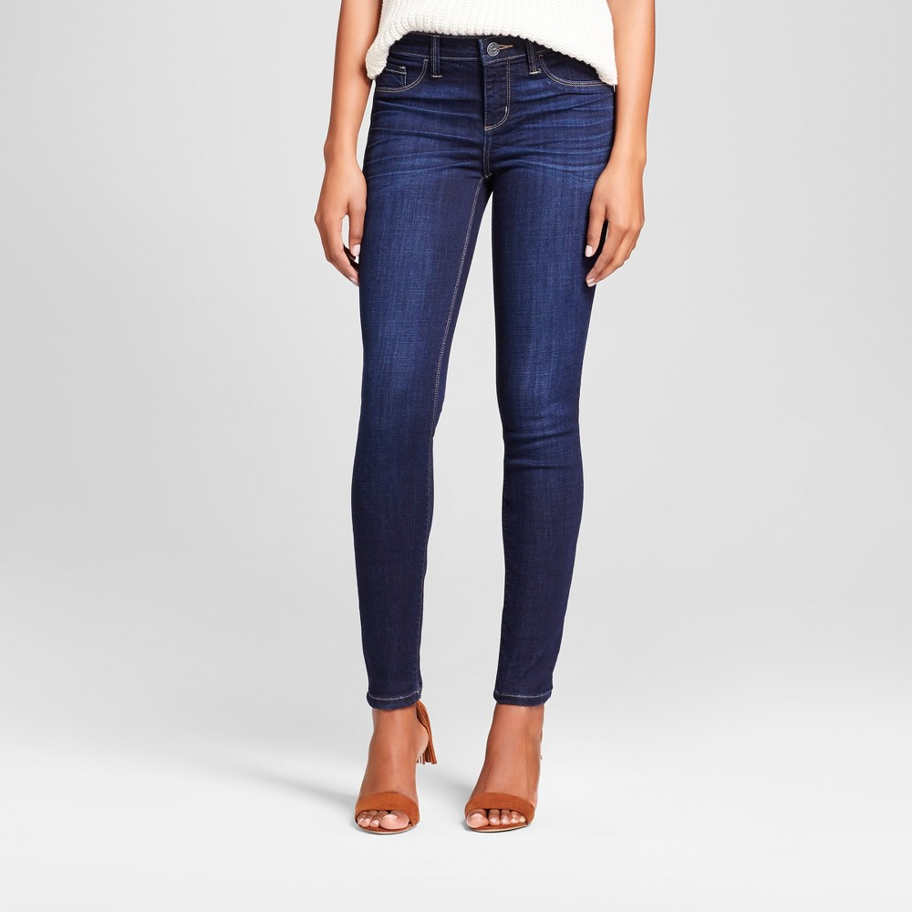 Women's Modern Fit Leggings Jeans - Crafted by Lee Dark Denim Wash 2