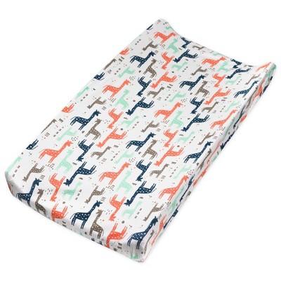 Honest Baby Organic Cotton Changing Pad Cover - Giraffes