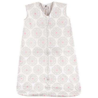 Hudson Baby Infant Girl Cotton Sleeveless Wearable Sleeping Bag, Sack, Blanket, Floral