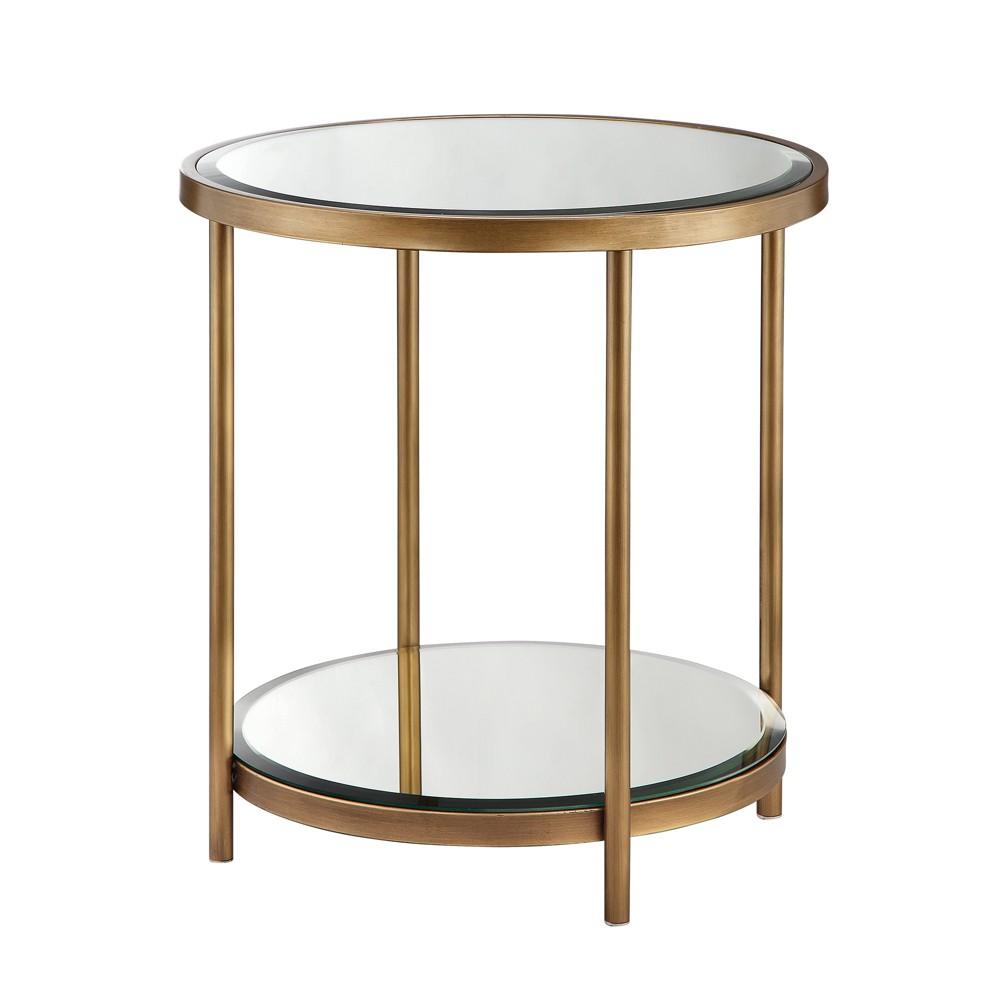 Jade End Table - Mirror/Bronze