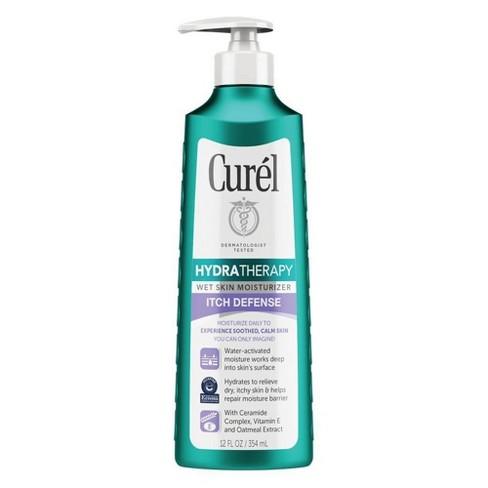 Curel Hydratherapy Itch Defense Wet Skin Moisturizer - 12 fl oz - image 1 of 4