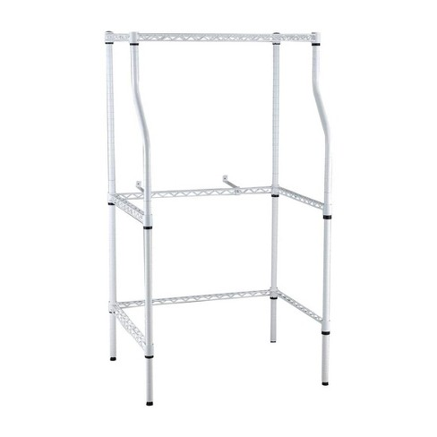 Magic Chef Compact Adjustable Powder Coat Metal Washer Dryer Machine Stacking Laundry Drying Rack Stand, White - image 1 of 4