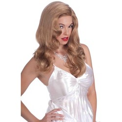 Adult Glamour Glamourama Long Straight Hair with Bangs Neon Orange Costume Wig