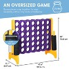 ECR4Kids Jumbo Four-To-Score Giant Game-Indoor/Outdoor 4-In-A-Row Connect - Purple and Gold - image 2 of 4