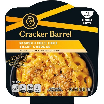 Cracker Barrel Single Bowl Mac & Cheese Sharp Cheddar - 3.8oz