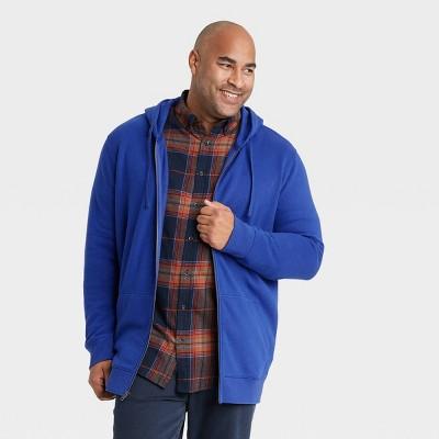 Men's Big & Tall Fleece Full-Zip Hoodie Sweatshirt - Goodfellow & Co™