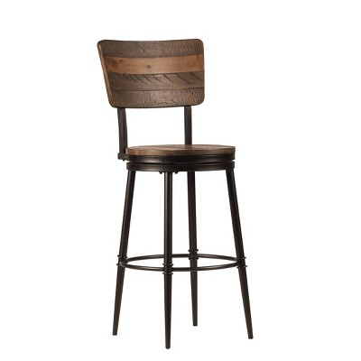 Jennings Barstool Distressed Walnut - Hillsdale Furniture