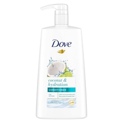 Dove Nourishing Secrets Conditioner with Pump for Dry Hair Coconut and Hydration with Lime Scent - 25.4 fl oz