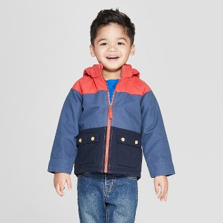 Genuine Kids® from OshKosh Toddler Boys' Canvas Colorblock Jacket - Red/Blue 2T