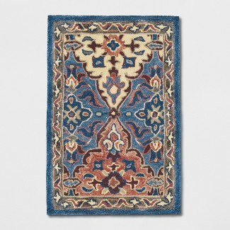 2'X3' Tufted PersianAccent Rugs Blue - Threshold™