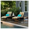 Pillow Perfect Outdoor One Piece Seat And Back Cushion - Off White - image 2 of 2