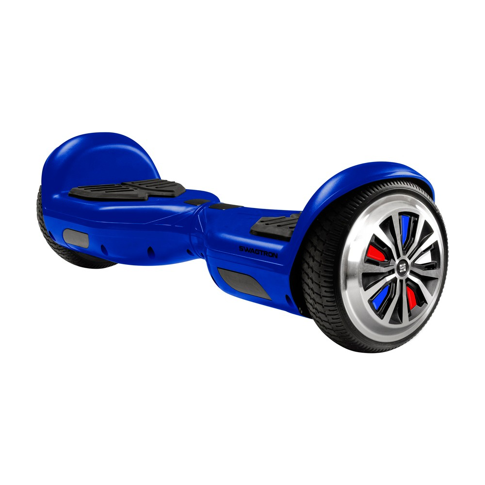 Swagtron Metro Hoverboard with Led Wheels - Blue