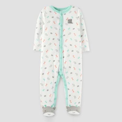 Baby Giraffe Cotton Sleep N' Play - Just One You™ Made by Carter's® Off White 6M