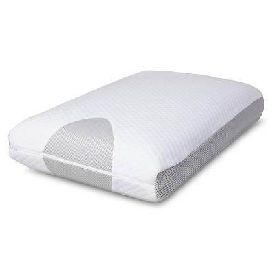 Temperature Regulating Memory Foam Pillow White - Threshold™