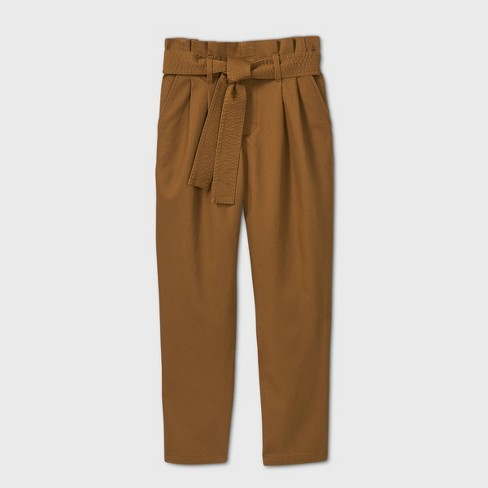 Women's Tie Waist Paperbag Pants - A New Day™ - image 1 of 2