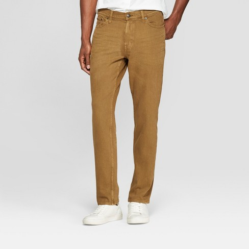 Men's Athletic Fit Jeans - Goodfellow & Co™ Dark Khaki 32x34 - image 1 of 3