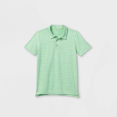 Boys' Striped Golf Polo Shirt - All in Motion™