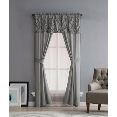 Kate Aurora Complete 5 Pc. Ruffled Window in a Bag Curtain Set