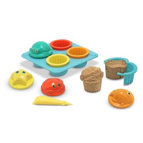 Melissa & Doug Sunny Patch Seaside Sidekicks Sand Cupcake Play Set - image 1 of 4