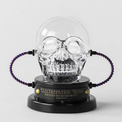 Animated LED Skull Plasma Ball Decorative Halloween Prop - Hyde & EEK! Boutique™