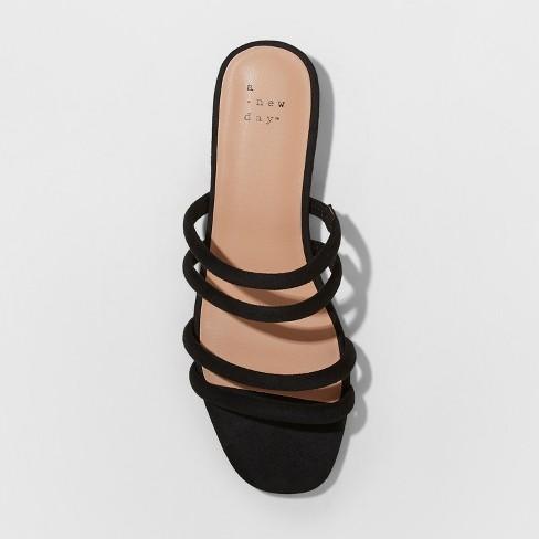 ae53d714c1f9 Women's Sophia Strappy Slide Sandals - A New Day™ Black 8.5