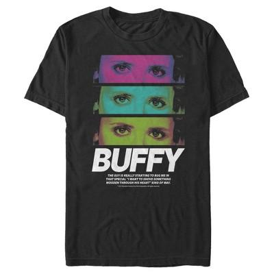 Men's Buffy the Vampire Slayer Rainbow Panels T-Shirt