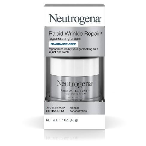 Neutrogena Rapid Wrinkle Repair Hyaluronic Acid & Retinol Face Cream - 1.7oz - image 1 of 8