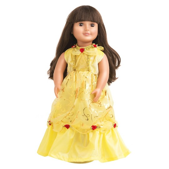 Little Adventures Doll Dress - Yellow Beauty, Size: One Size image number null