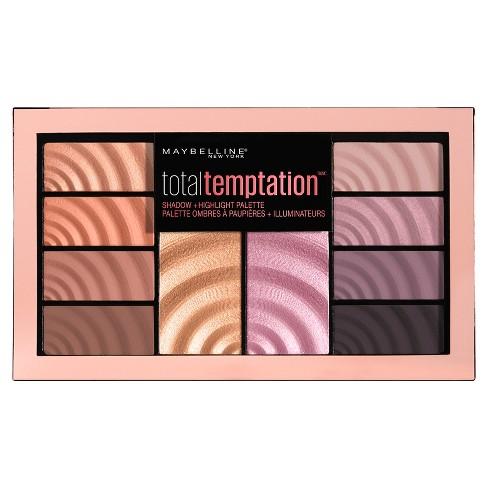 Maybelline Total Temptation Eyeshadow + Highlight Palette - 0.42oz - image 1 of 4