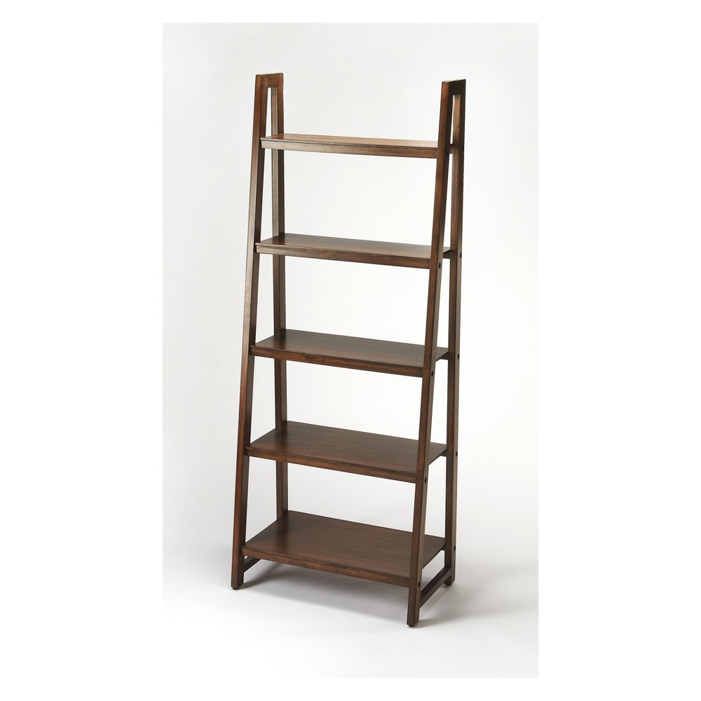 "Image of ""76.5"""" Stallings Bookcase Brown - Butler Specialty"""
