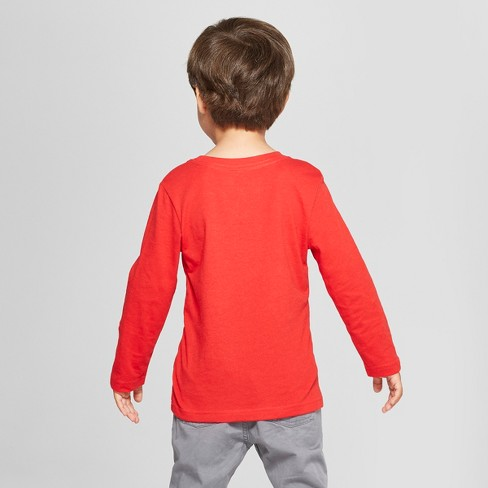 754ba36448d0c Toddler Boys  Long Sleeve T-Shirt - Cat   Jack™ Red   Target