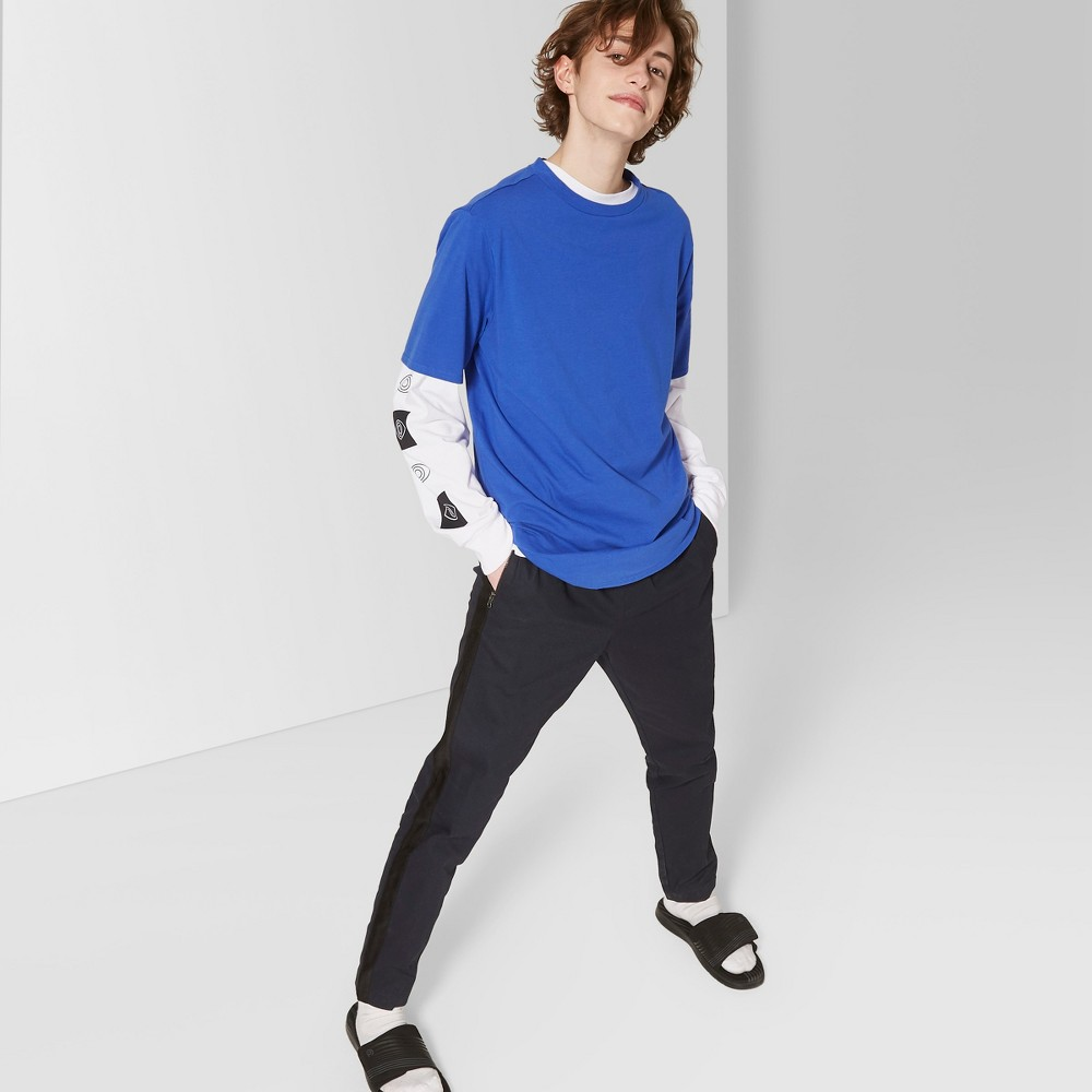 Men's Short Sleeve Curve Hem Crew T-Shirt - Original Use Lapis L