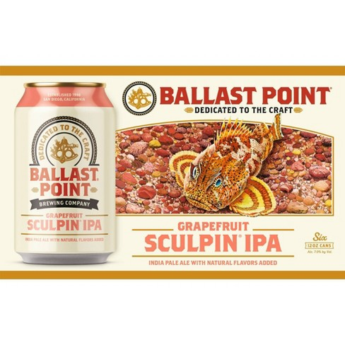 Ballast Point Grapefruit Sculpin IPA - 6pk / 12 fl oz Cans - image 1 of 3