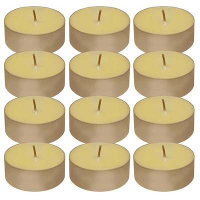 12ct Lumabase Extra Large Citronella Tea Light Candles