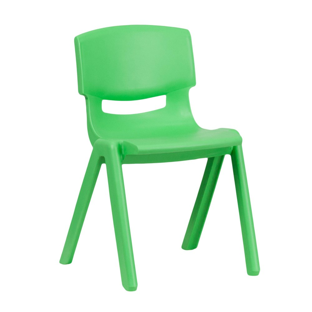 Image of Medium Stacking Student Chair - Green - Belnick, Adult Unisex