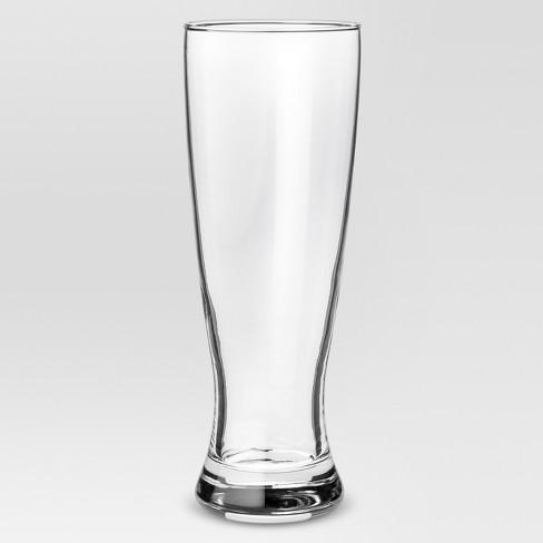 23.4oz 4pk Glass Classic Pilsner Beer Glasses - Threshold™ - image 1 of 2