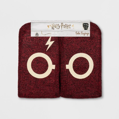 Women's Harry Potter Glasses Terry Socks - Red One Size - image 1 of 2