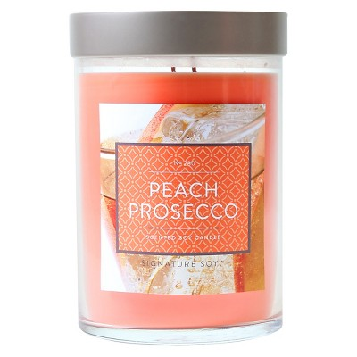 21oz Lidded Glass Jar Candle Peach Prosecco - Signature Soy